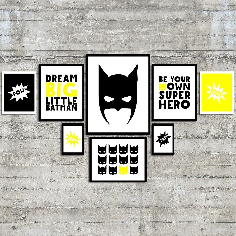 Superhero Wall Art Prints  Be Your Own Superhero Gallery Wall Art Within 2017 Superhero Wall Art (View 15 of 20)