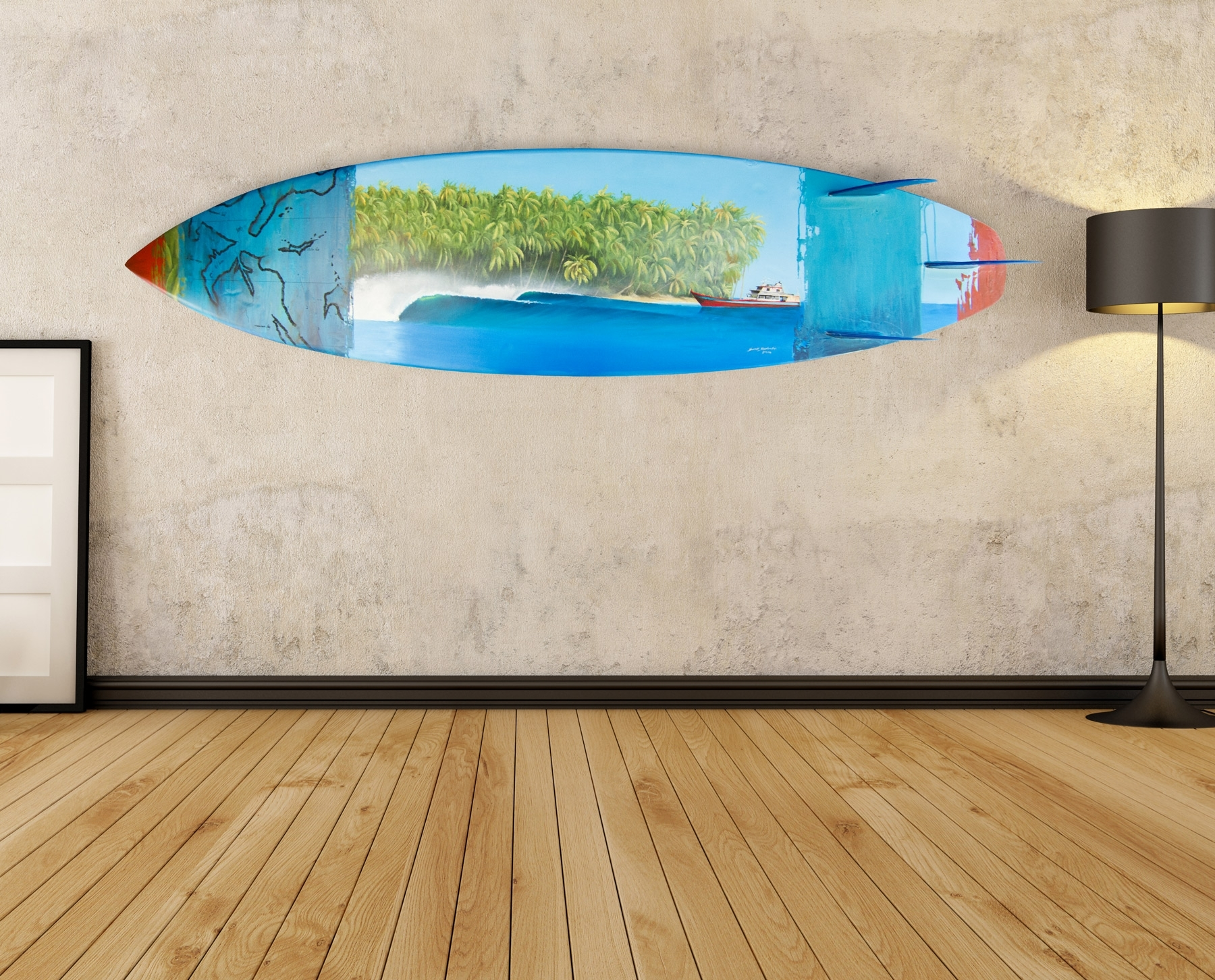 Surfboard Wal Vintage Surfboard Wall Art – Wall Decoration And Wall Intended For 2017 Surfboard Wall Art (Gallery 1 of 20)