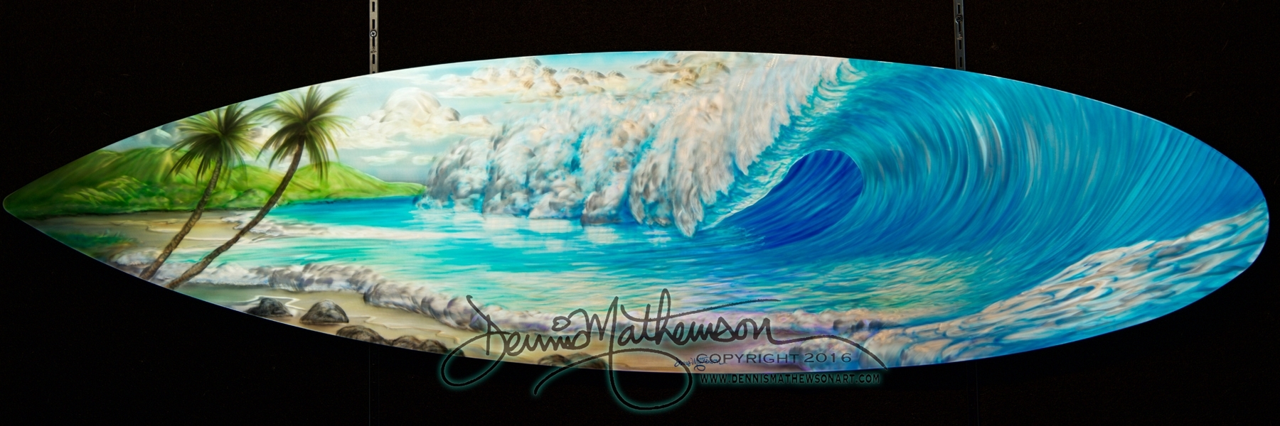 Surfboard Wave #16 – Dennis Mathewson Art For Most Recent Surfboard Wall Art (View 16 of 20)