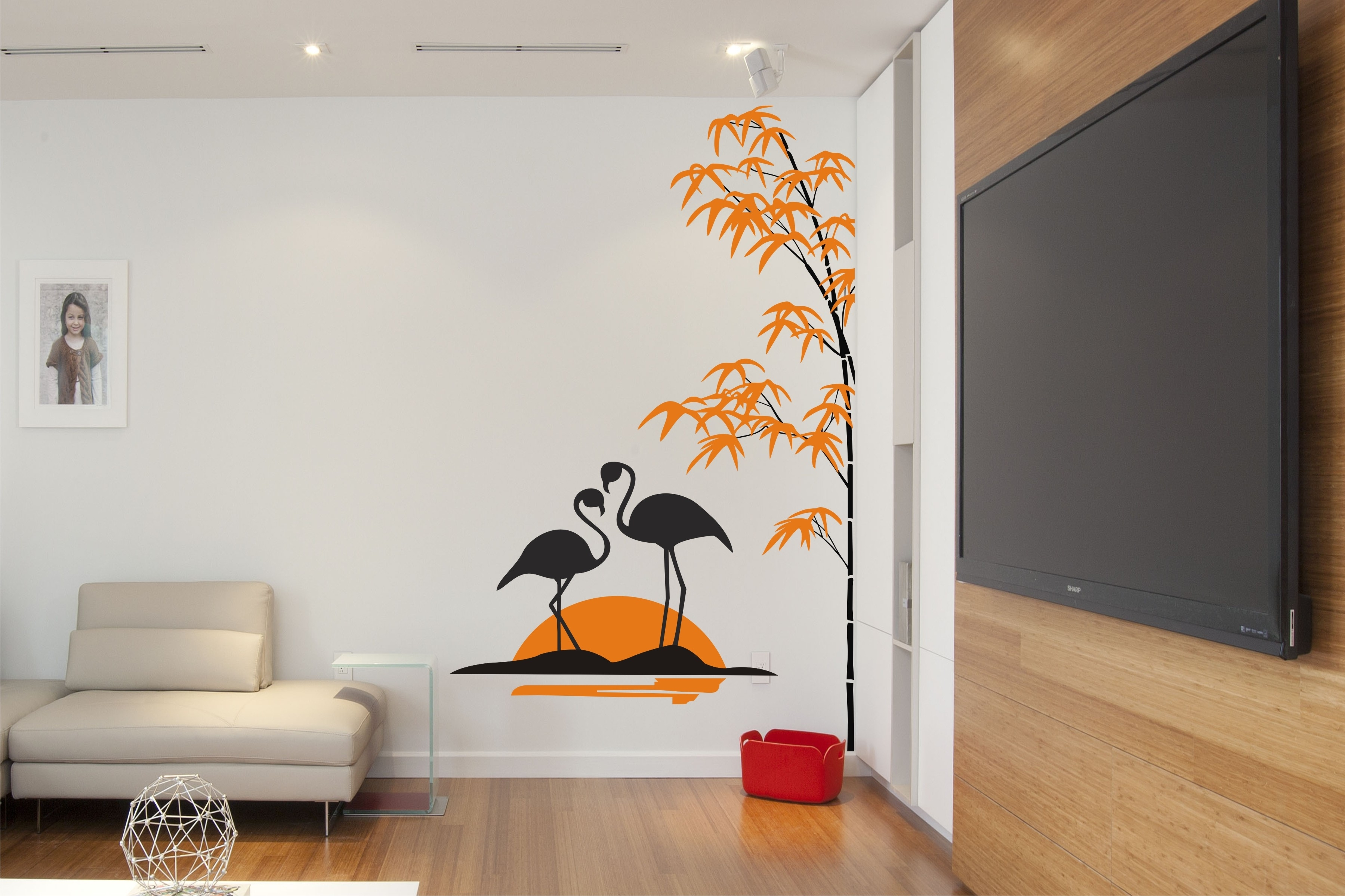 Swan With Bamboo Tree | Buy Customized Gift Solution At Artzolo Throughout Most Current Bamboo Wall Art (View 16 of 20)