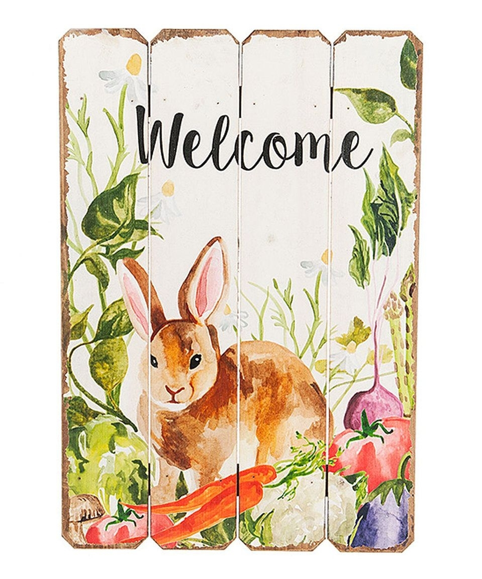 Take A Look At This 'welcome' Bunny Wall Art Today! | Xander's Intended For Newest Bunny Wall Art (View 18 of 20)