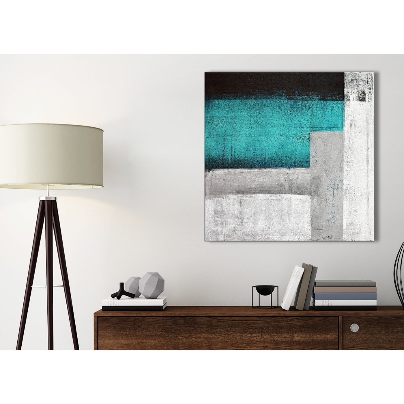 Teal Turquoise Grey Painting Bathroom Canvas Wall Art Accessories Pertaining To Most Up To Date Teal And Brown Wall Art (View 17 of 20)