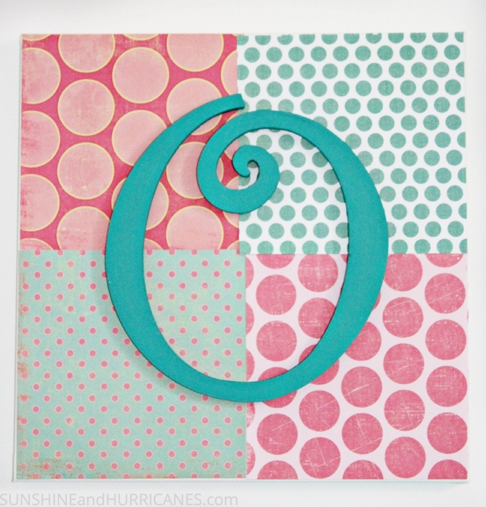 Teen Craft: Monogram Wall Art Throughout Best And Newest Teen Wall Art (Gallery 20 of 20)