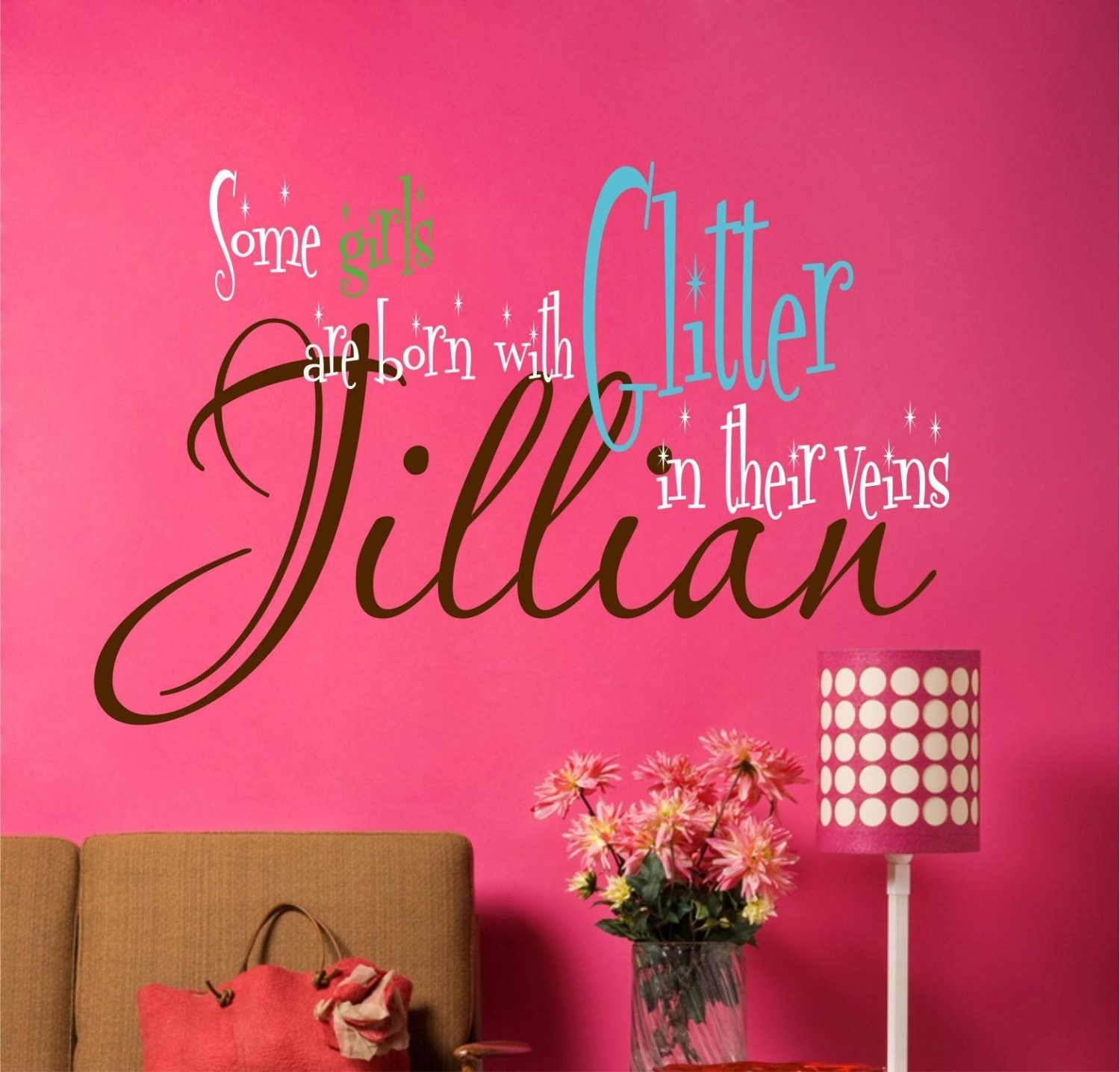 Teen Room Decor, Custom Name Decal, Wall Decals, Vinyl Decal, Dorm Pertaining To Most Up To Date Teen Wall Art (View 15 of 20)