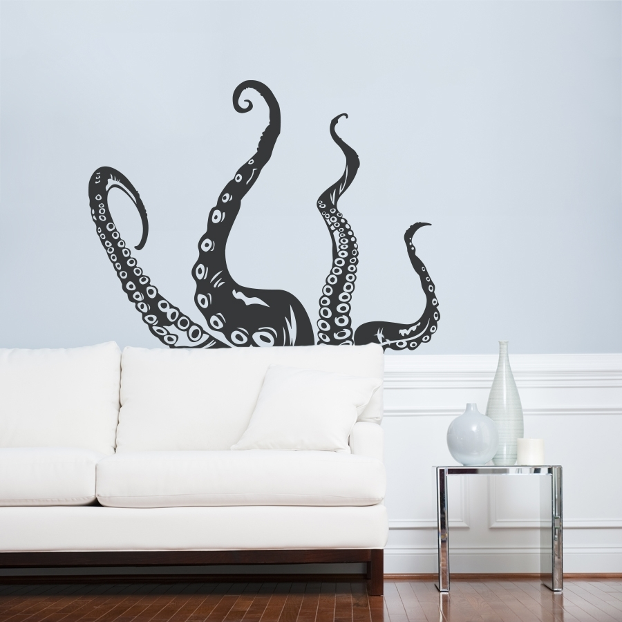 Tentacle Wall Decal | Octopus Wall Art | Wallums In Newest Octopus Wall Art (View 19 of 20)