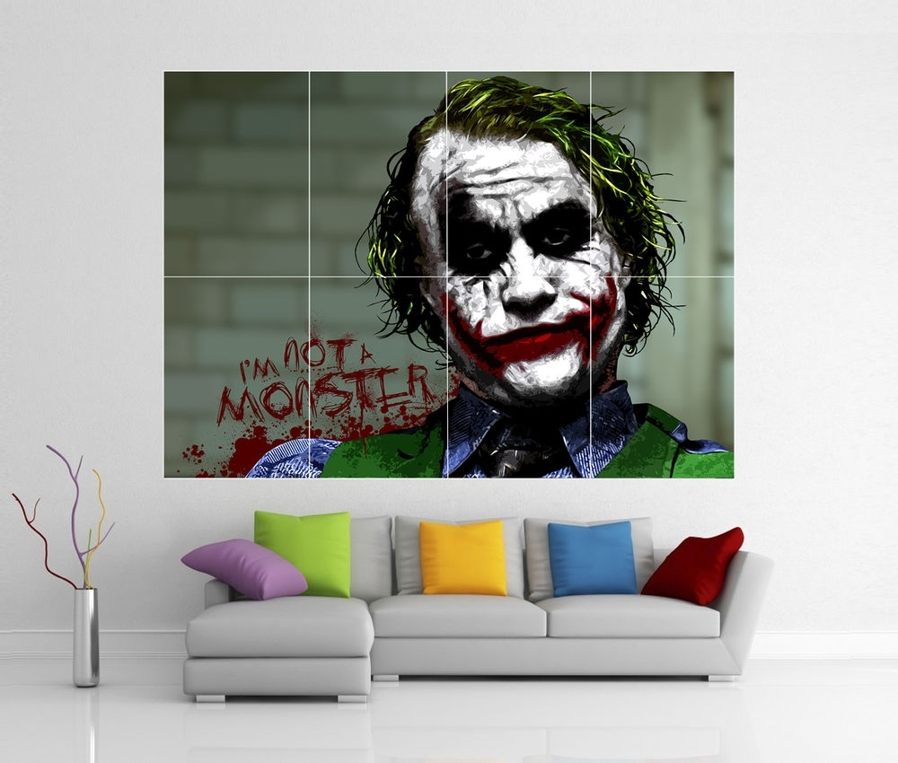 The Dark Knight Joker Batman Giant Wall Art Picture Print Poster G33 Intended For 2017 Joker Wall Art (Gallery 7 of 20)