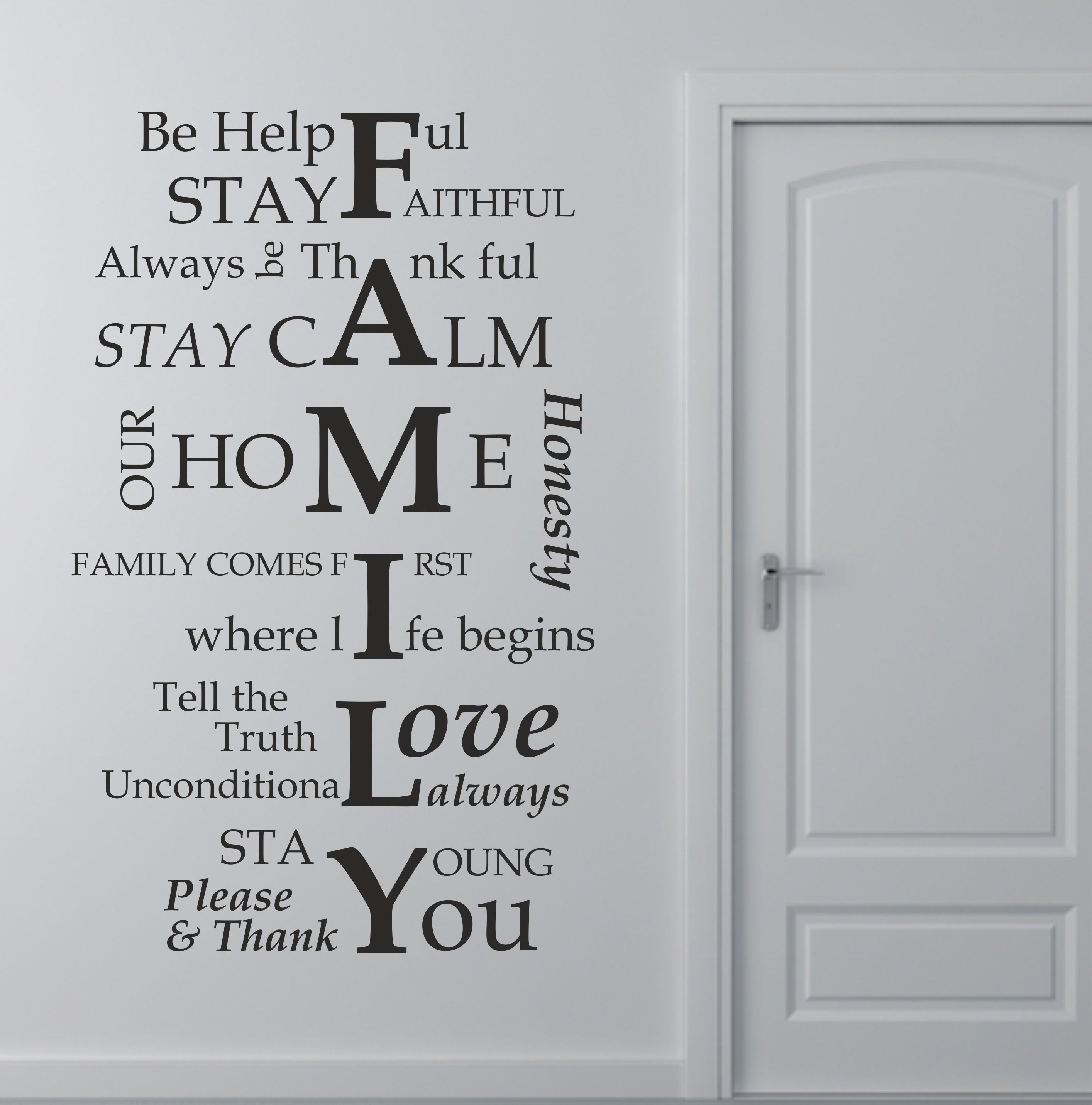 The Grafix Studio | 01 Family House Rules Quote Wall Art Sticker Throughout 2018 Family Rules Wall Art (View 17 of 20)