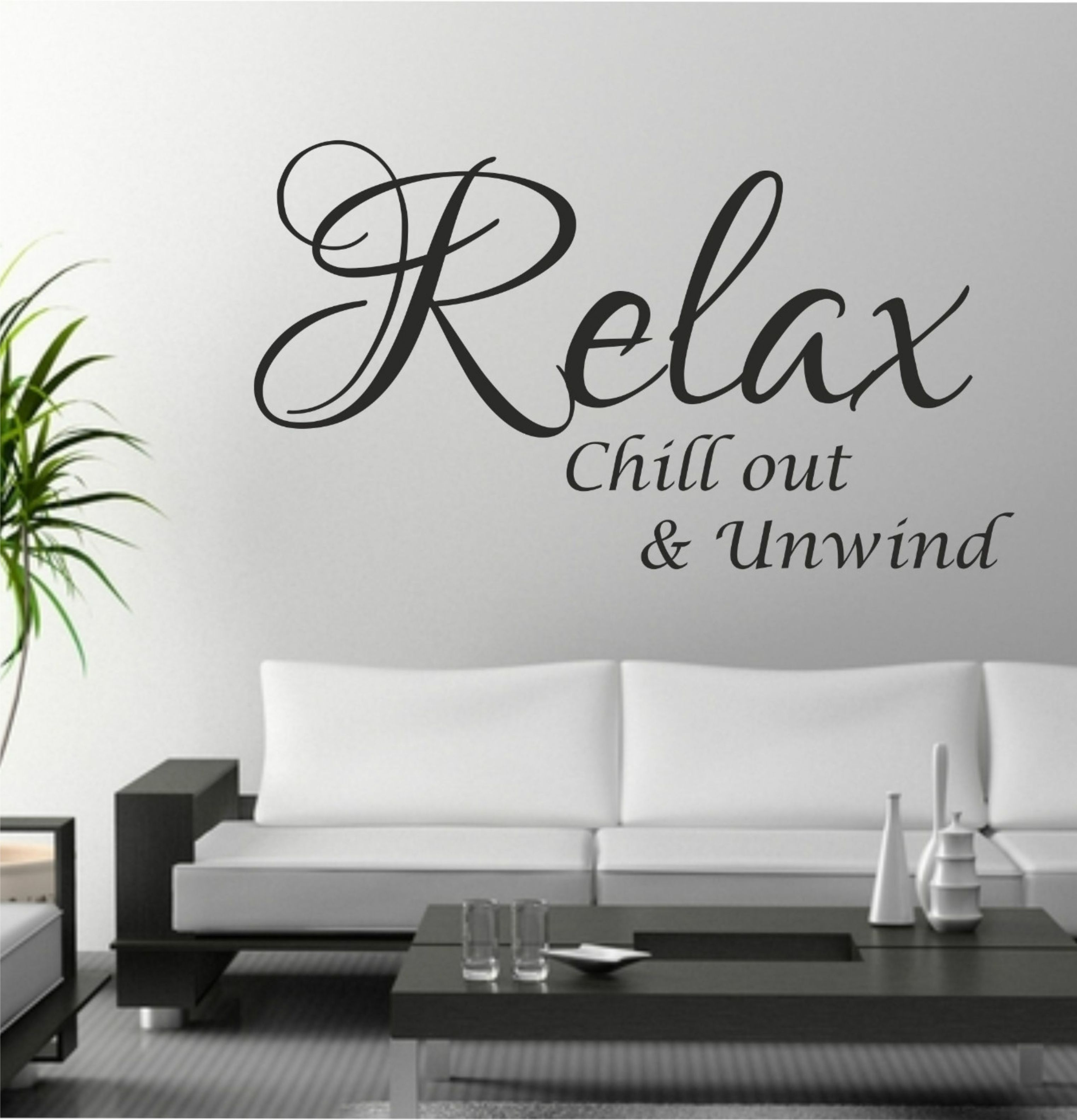 The Grafix Studio | Relax Chill Out Unwind Quote Wall Art Sticker With Current Wall Art Stickers (View 5 of 15)