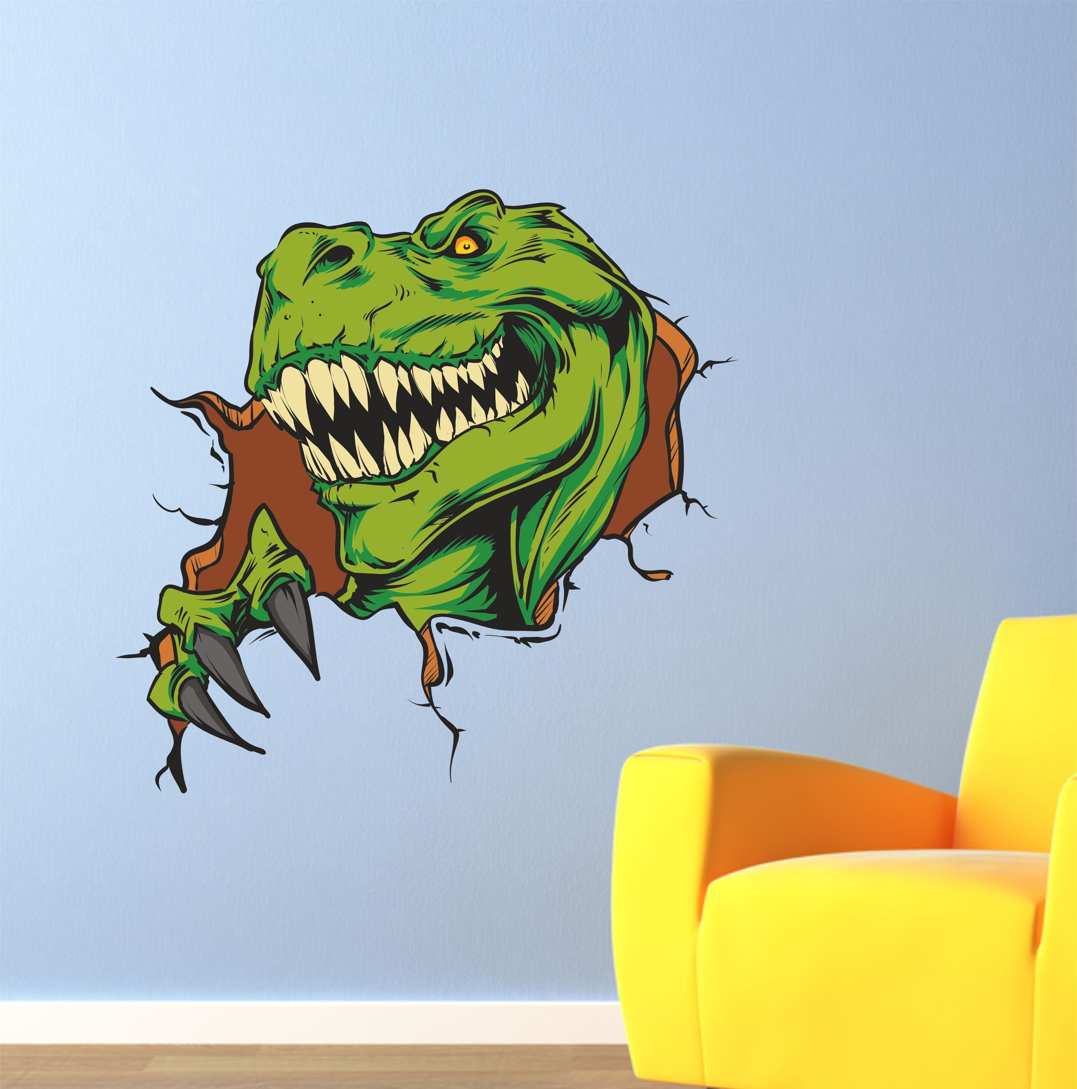 The Grafix Studio | Scary Dinosaur Wall Art Sticker Vinyl With Most Up To Date Dinosaur Wall Art (View 3 of 20)