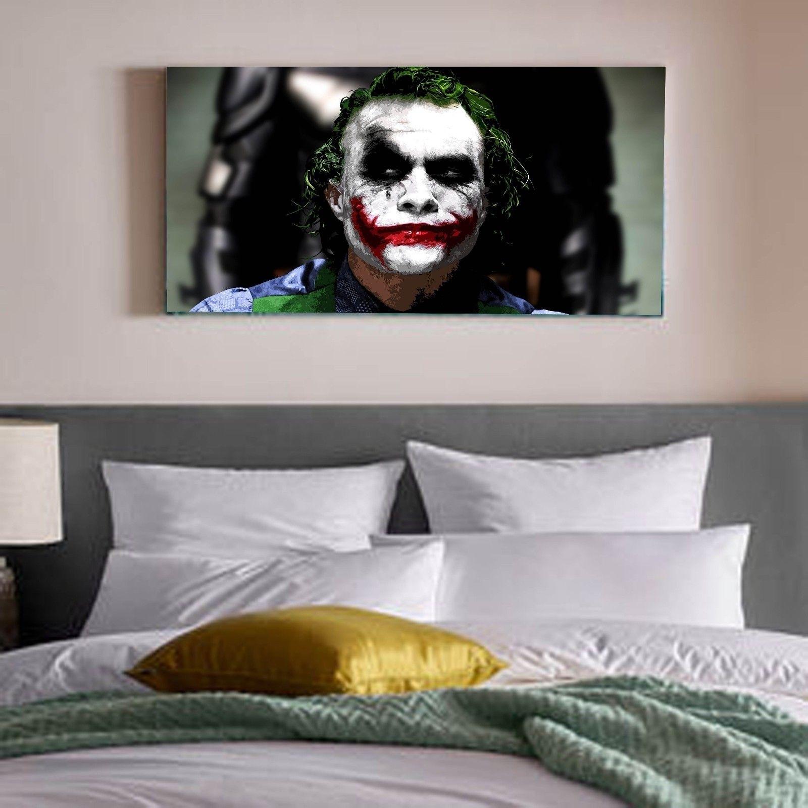 The Joker Heath Ledger Batman Dc Comics Canvas Print Wall Art Photo Intended For Recent Joker Wall Art (View 12 of 20)