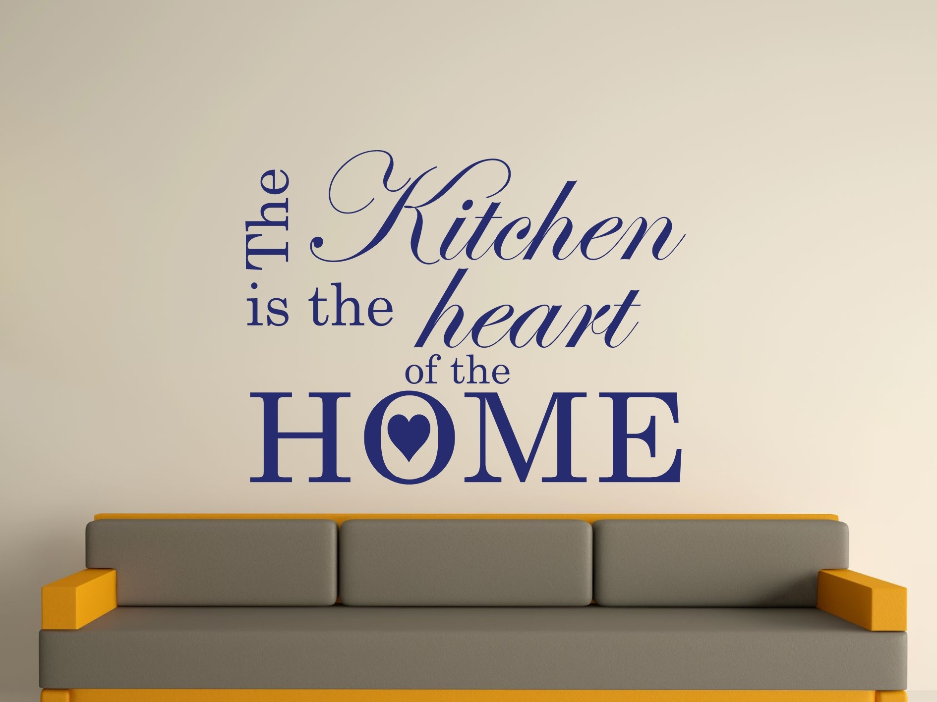The Kitchen Is The Heart Of The Home Wall Art Sticker Text 3 Sizes Intended For 2017 Wall Art Stickers (View 11 of 15)