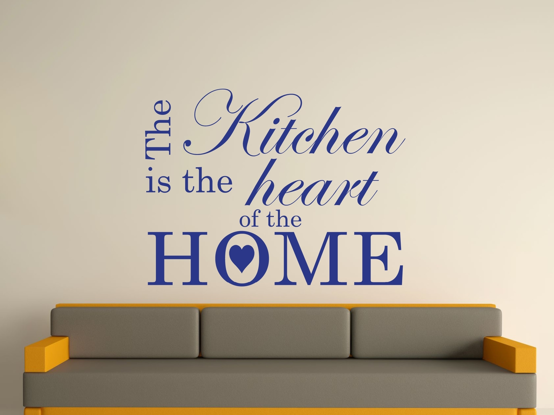 The Kitchen Is The Heart Of The Home Wall Art Sticker Text 3 Sizes Pertaining To Recent Home Wall Art (View 14 of 20)