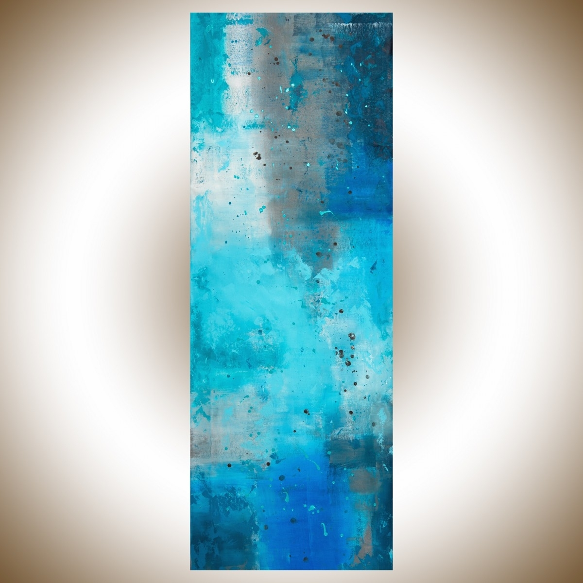 "The Mistqiqigallery 70""x24"" Un Stretched Canvas Original Modern Regarding Most Recent Oversized Teal Canvas Wall Art (View 9 of 20)"