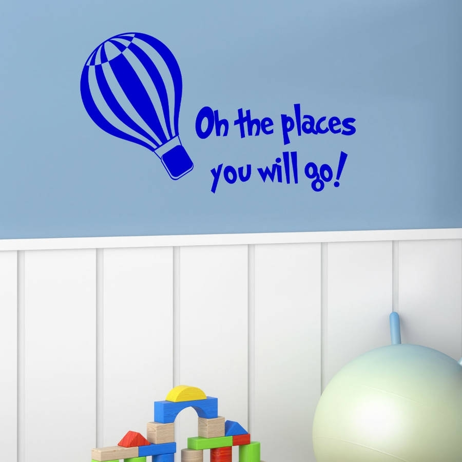 The More You Read Dr Seuss Wall Stickerwall Art Quotes & Designs Pertaining To 2018 Dr Seuss Wall Art (View 19 of 20)