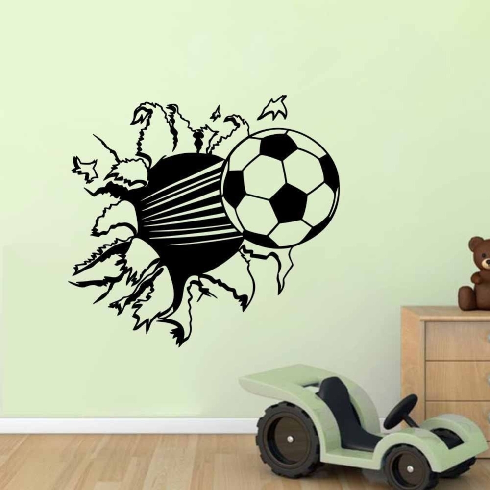 The Sport Soccer Wall Stickers For Kids Room Boys Bedroom Gym Wall Inside Most Current Soccer Wall Art (View 3 of 20)