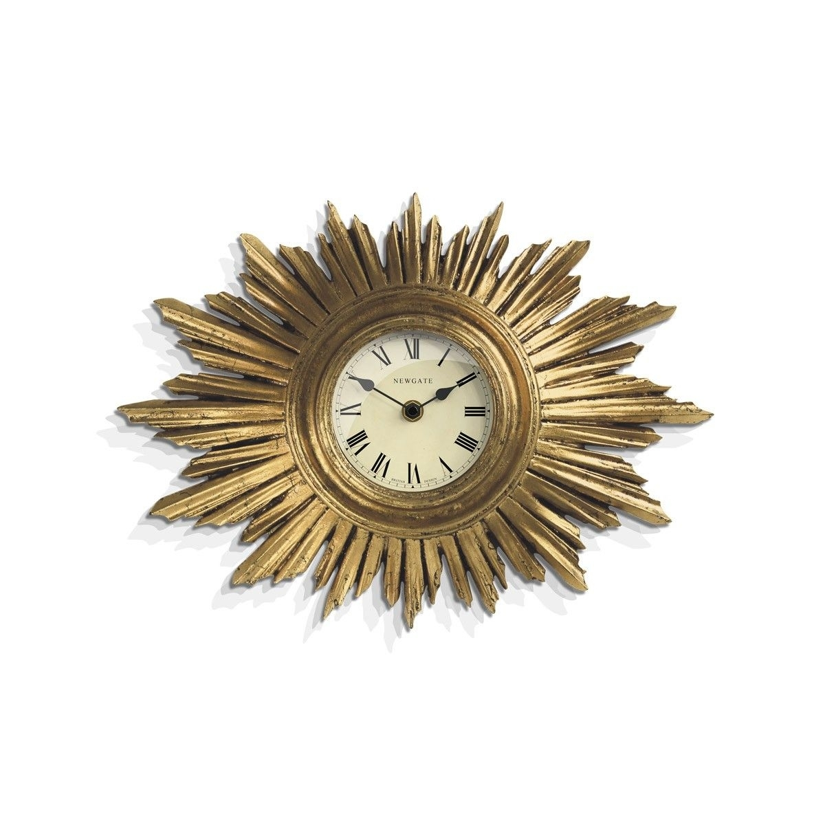 The Sunburst Wall Clock In Vintage Goldnewgate Clocks An Art Regarding Most Recent Art Deco Wall Clock (View 8 of 20)