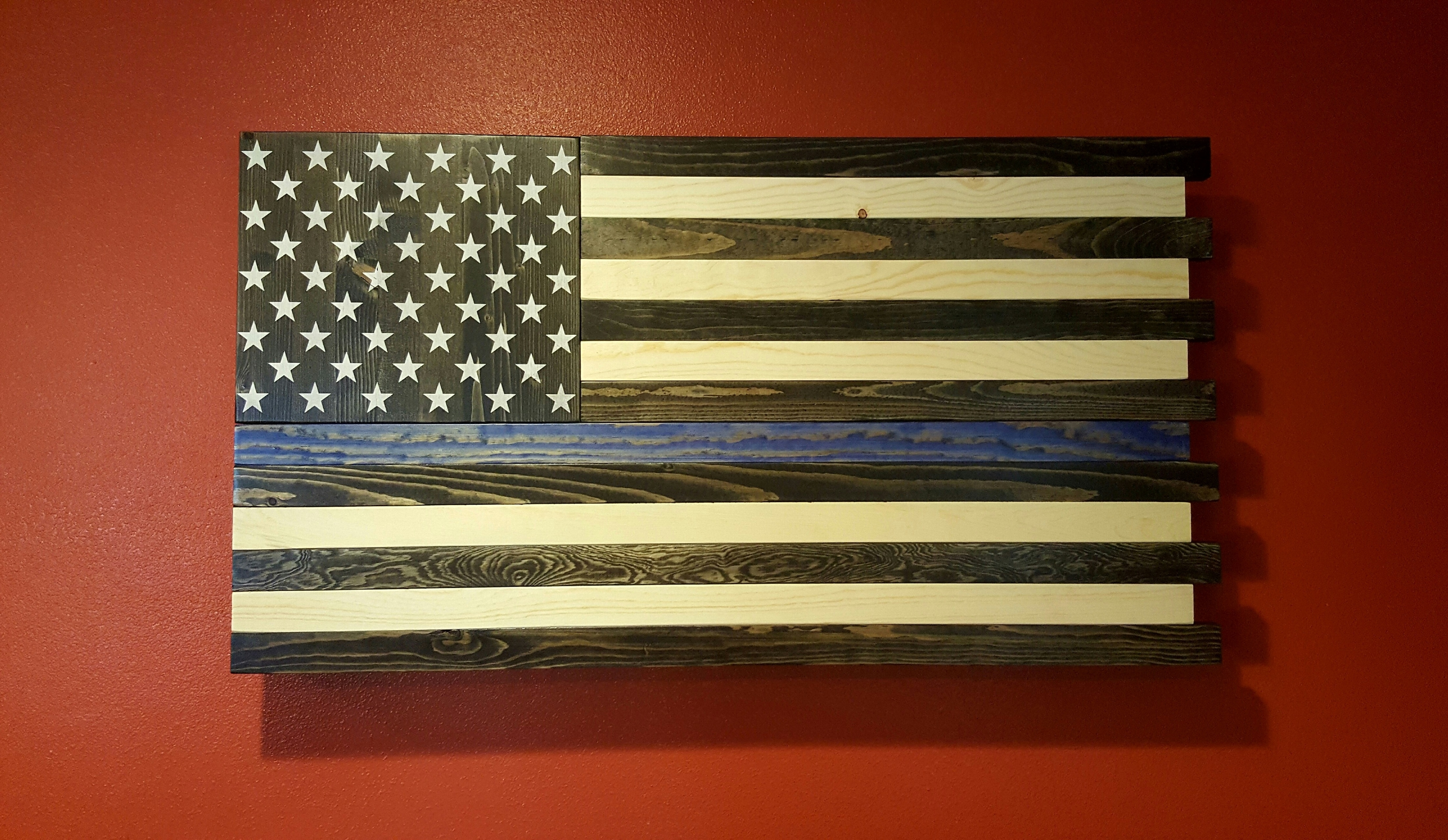 The Thin Blue Line American Flag Wall Art With Best And Newest American Flag Wall Art (View 2 of 15)