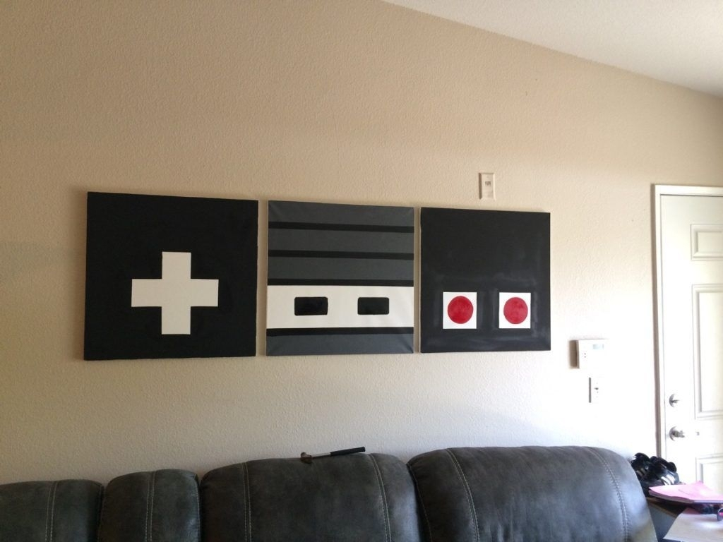 These 22 Man Cave Diys Will Spruce And Style His Getaway | Pinterest Throughout Most Up To Date Nintendo Wall Art (View 20 of 20)