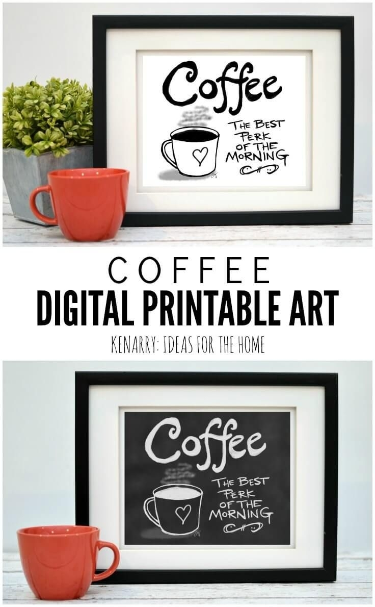 This Digital Printable Coffee Wall Art Would Look So Cute Hung As Throughout Most Up To Date Coffee Wall Art (View 5 of 15)