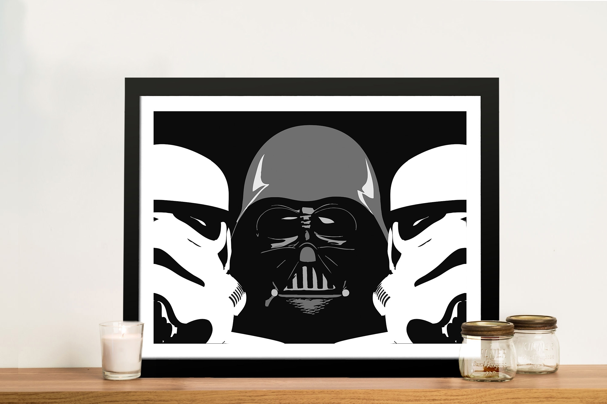 Three Amigos Darth Vader Wall Art – Canvas Prints Australia Regarding 2018 Darth Vader Wall Art (View 19 of 20)