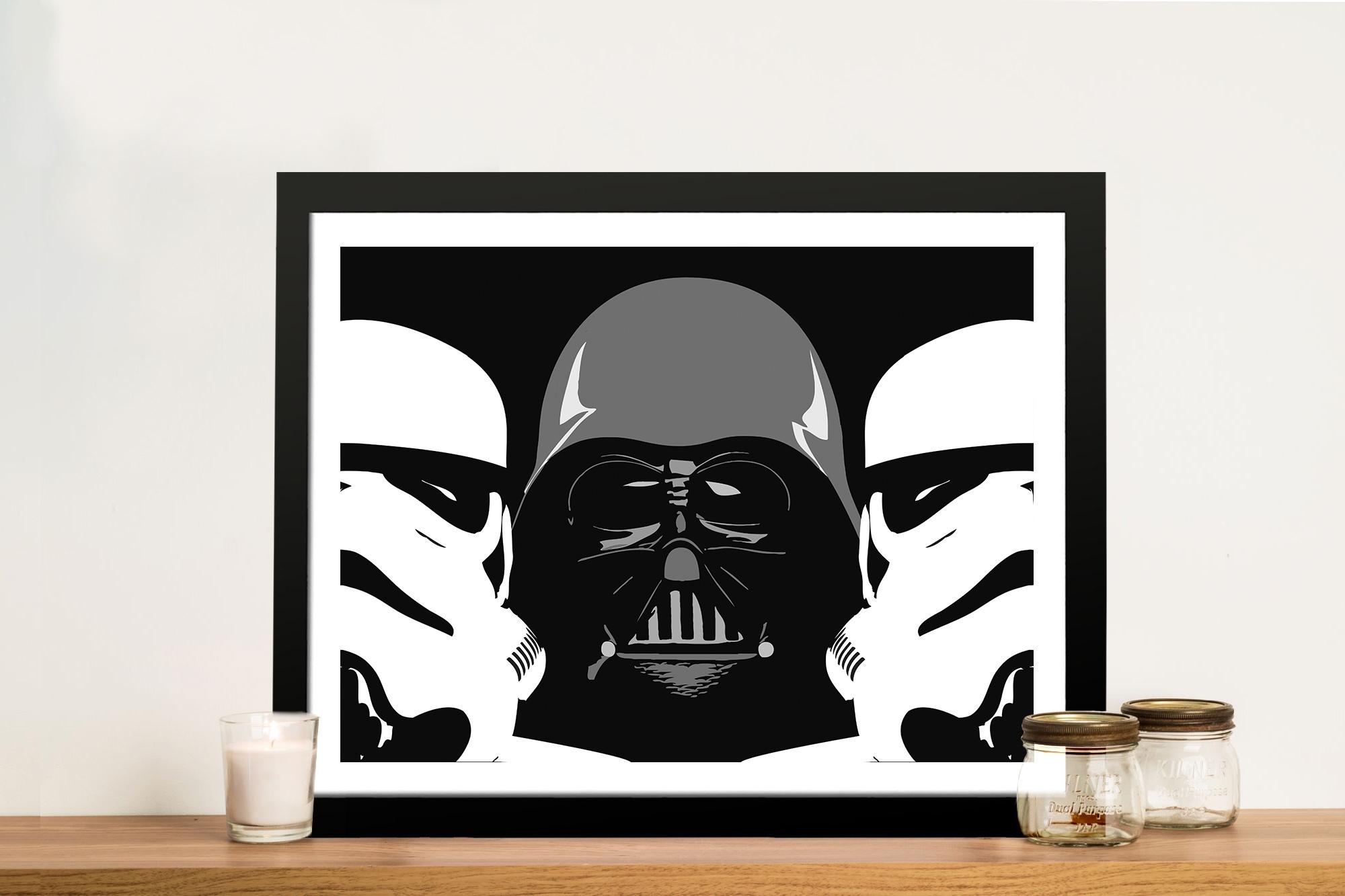 Three Amigos Darth Vader Wall Art – Canvas Prints Australia Regarding 2018 Darth Vader Wall Art (View 4 of 20)