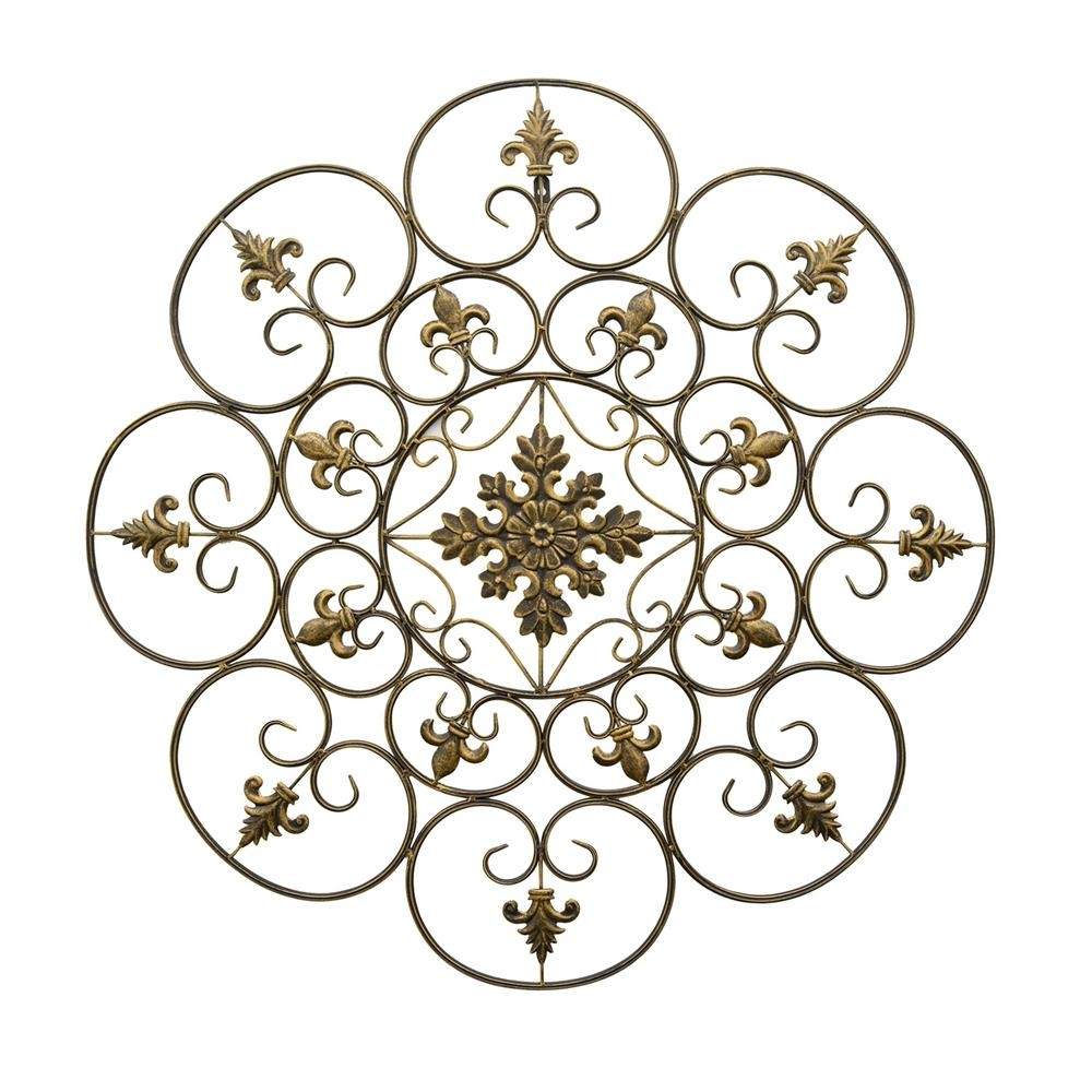 Three Hands Gold Metal Scroll Wall Art 87909 – The Home Depot Within Recent Metal Scroll Wall Art (View 12 of 20)