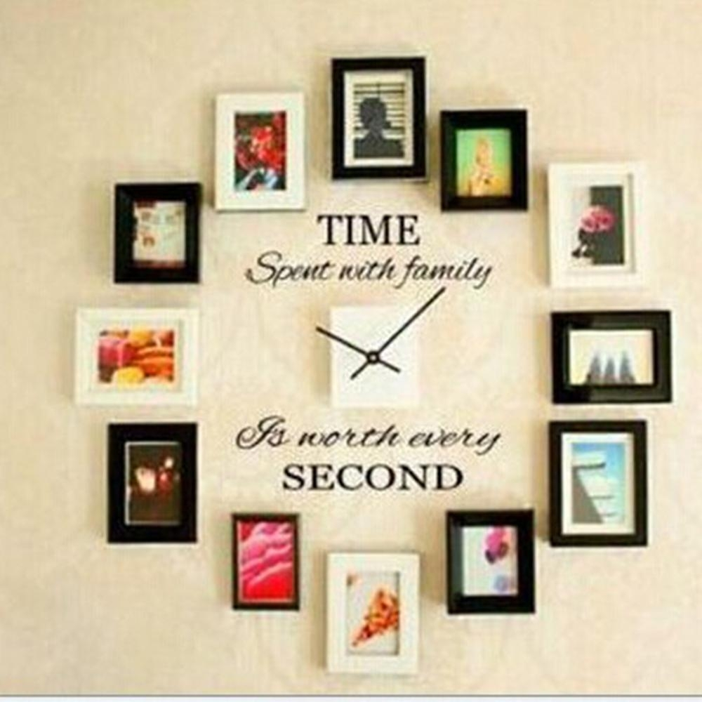 Time Spent With Family Quote Wall Decoration Letters Vinyl Home Wall In Most Recent Letter Wall Art (View 17 of 20)