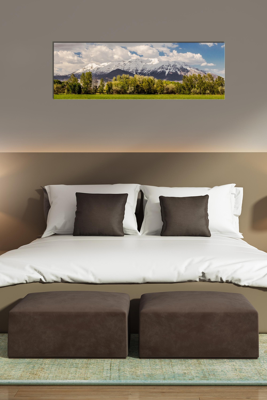 Timpanogos Spring Panorama – Rogue Aurora Photography Inside 2018 Panoramic Wall Art (View 9 of 15)