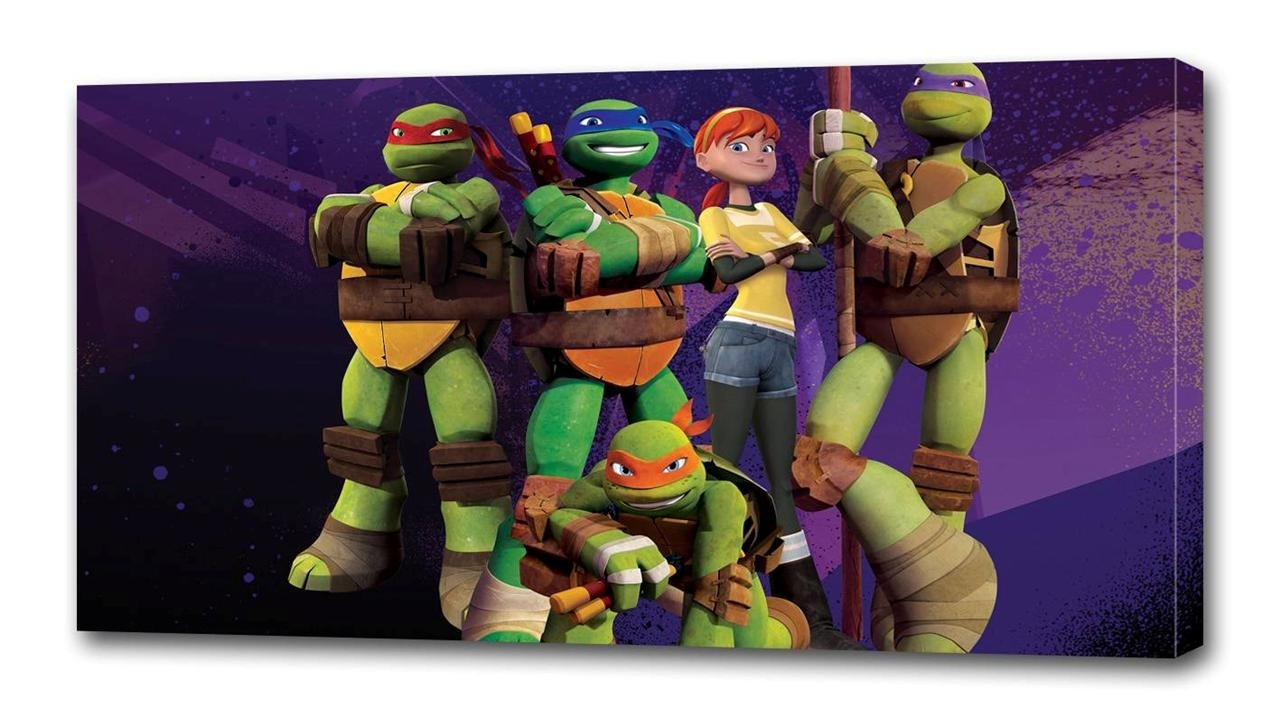 Tmnt Ninja Turtles Canvas Print Wall Decor Art Giclee Kids Bedroom For Most Up To Date Ninja Turtle Wall Art (Gallery 9 of 20)
