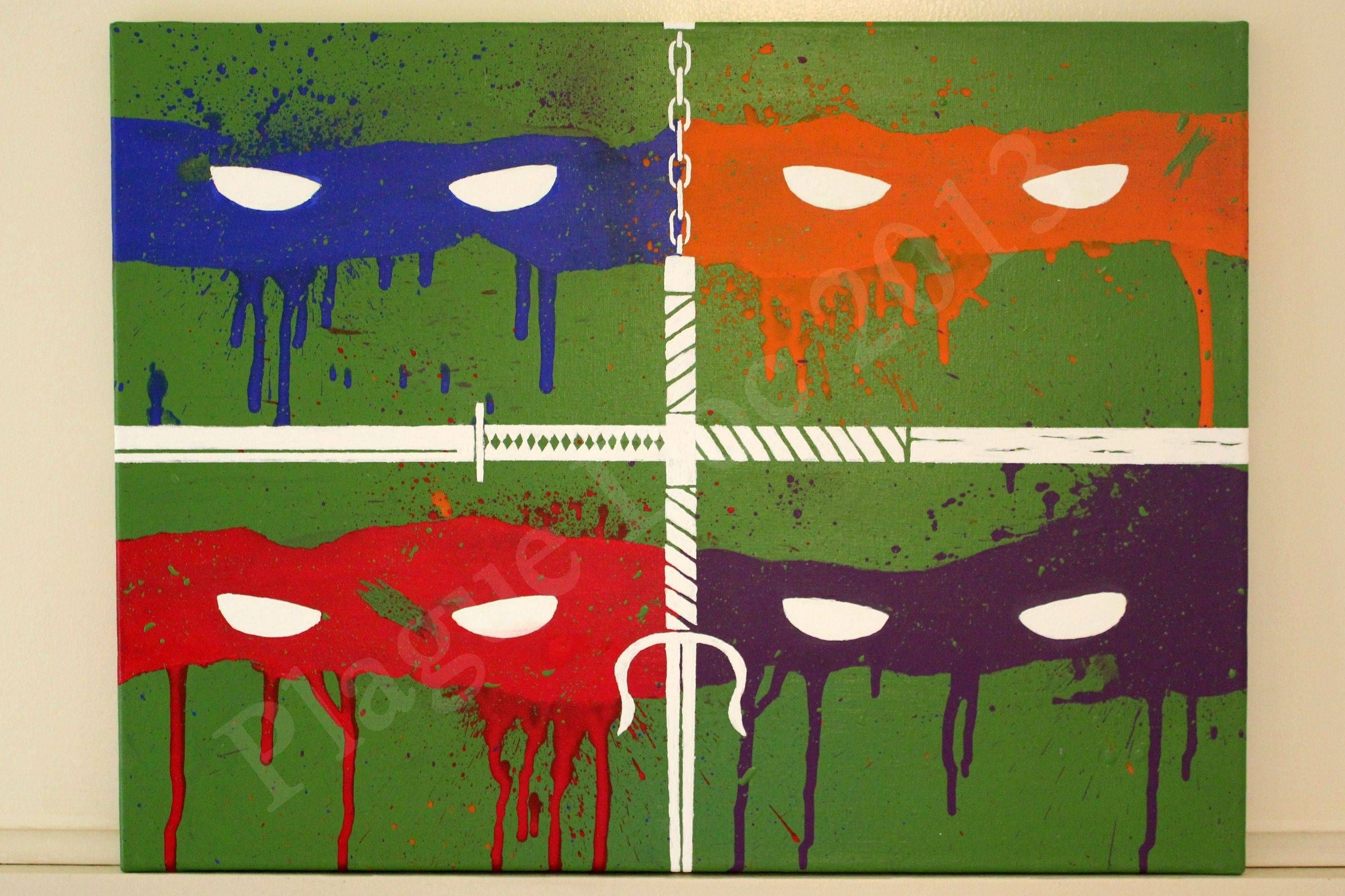 Tmnt Painting I Just Finished | Movies + Shows | Pinterest | Theme Within Best And Newest Ninja Turtle Wall Art (View 18 of 20)