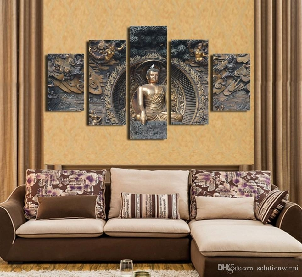 Top Buddha Room Decor 2018 Hd Printed Statue Painting Wall Art Print With Newest Popular Wall Art (View 13 of 20)