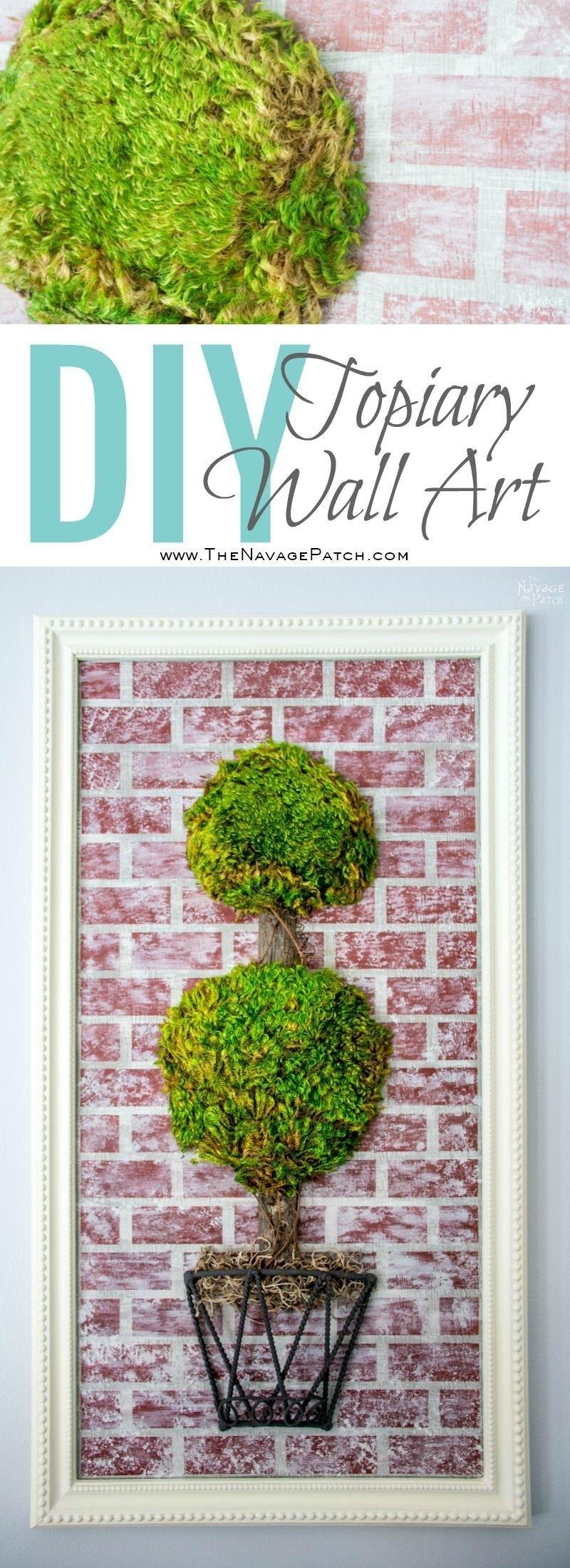 Topiary Wall Art | Joss & Main Wall Decor Knock Off | Diy Moss Pertaining To 2018 Joss And Main Wall Art (View 18 of 20)