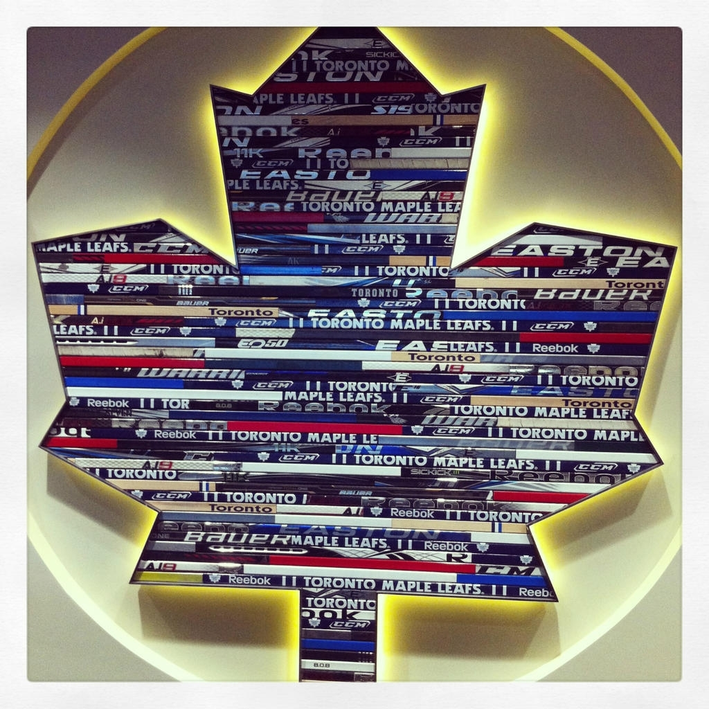 Toronto Maple Leafs Show Off Their Cool Hockey Sticks Logo Art With Most Up To Date Hockey Wall Art (View 15 of 15)