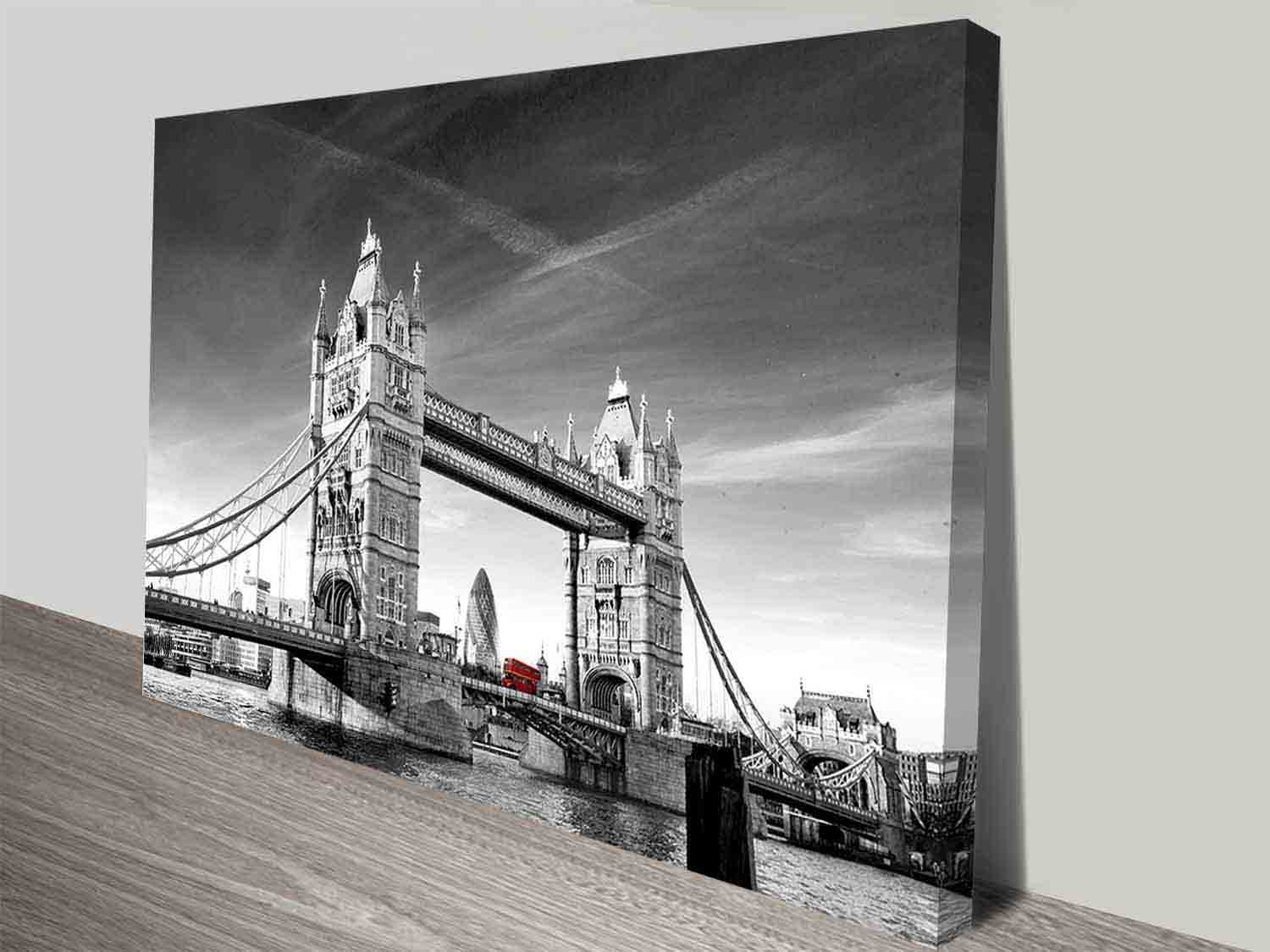 Tower Bridge Photographic Colour Splash Iconic London Canvas Wall Art For 2017 London Wall Art (View 12 of 20)