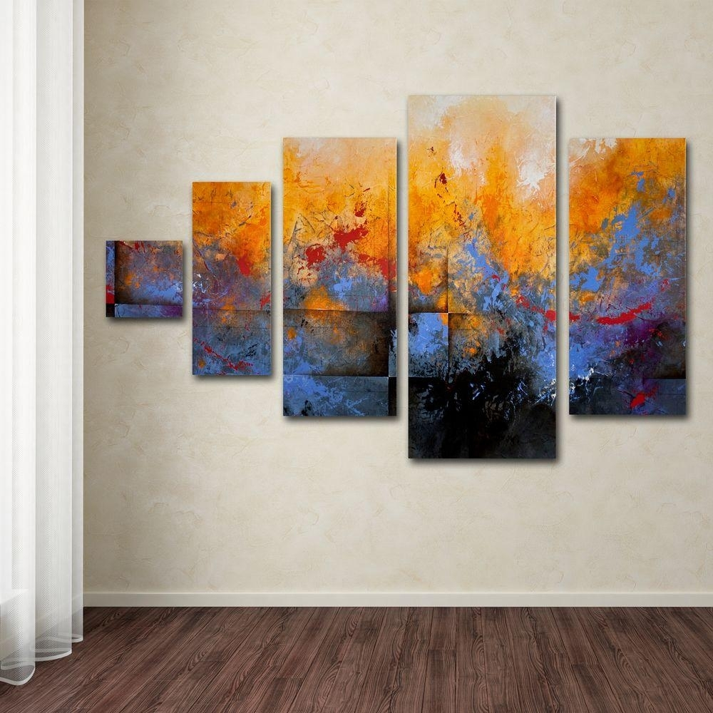 Trademark Fine Art My Sanctuarych Studios 5 Panel Wall Art Set Inside Most Up To Date Canvas Wall Art Sets (Gallery 9 of 15)
