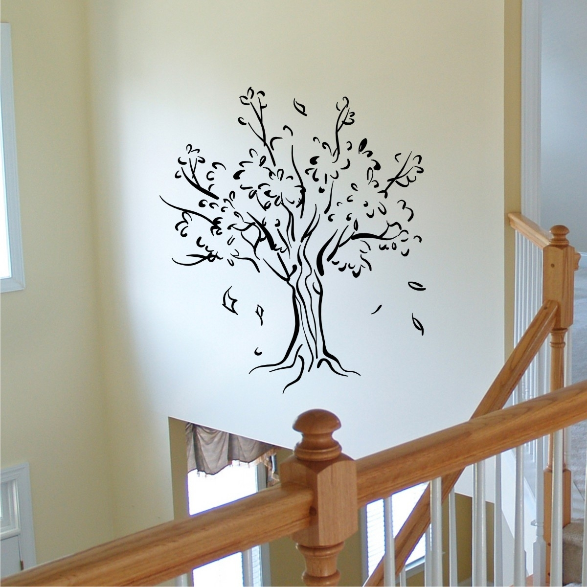 Tree & Leaves Silhouette Wall Quotes™ Wall Art Decal | Wallquotes In 2017 Wall Tree Art (View 17 of 20)