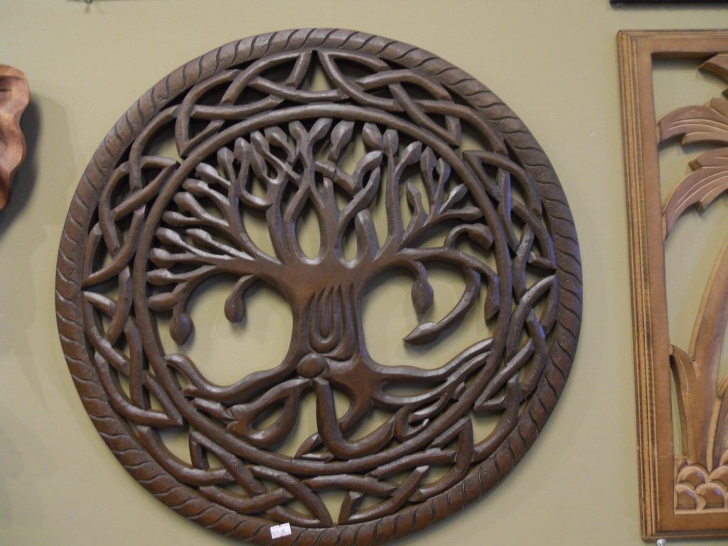 Tree Of Life Wall Art Wood Amazing Carving Decor Overstock Within 10 Throughout Best And Newest Wood Carved Wall Art (View 17 of 20)