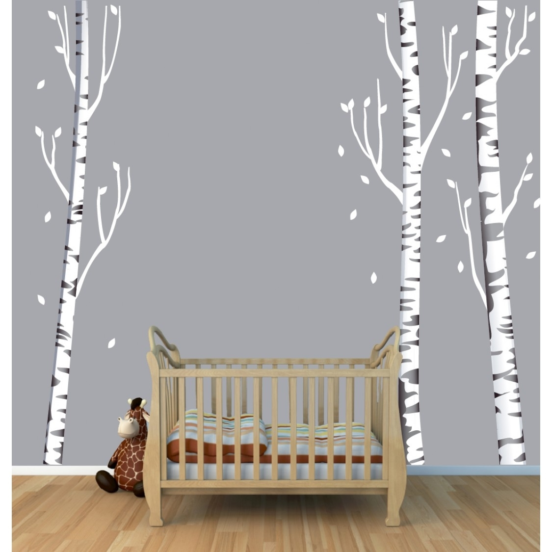 Tree Wall Art With Birch Tree Wall Decals For Kids Rooms Inside Most Popular Birch Tree Wall Art (View 4 of 20)
