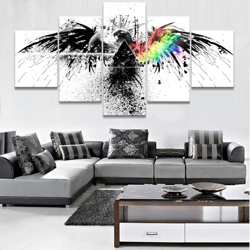 Trendy Inspiration Pink Floyd Wall Art Small Home Decoration Ideas Inside Most Up To Date Pink Floyd The Wall Art (View 18 of 20)