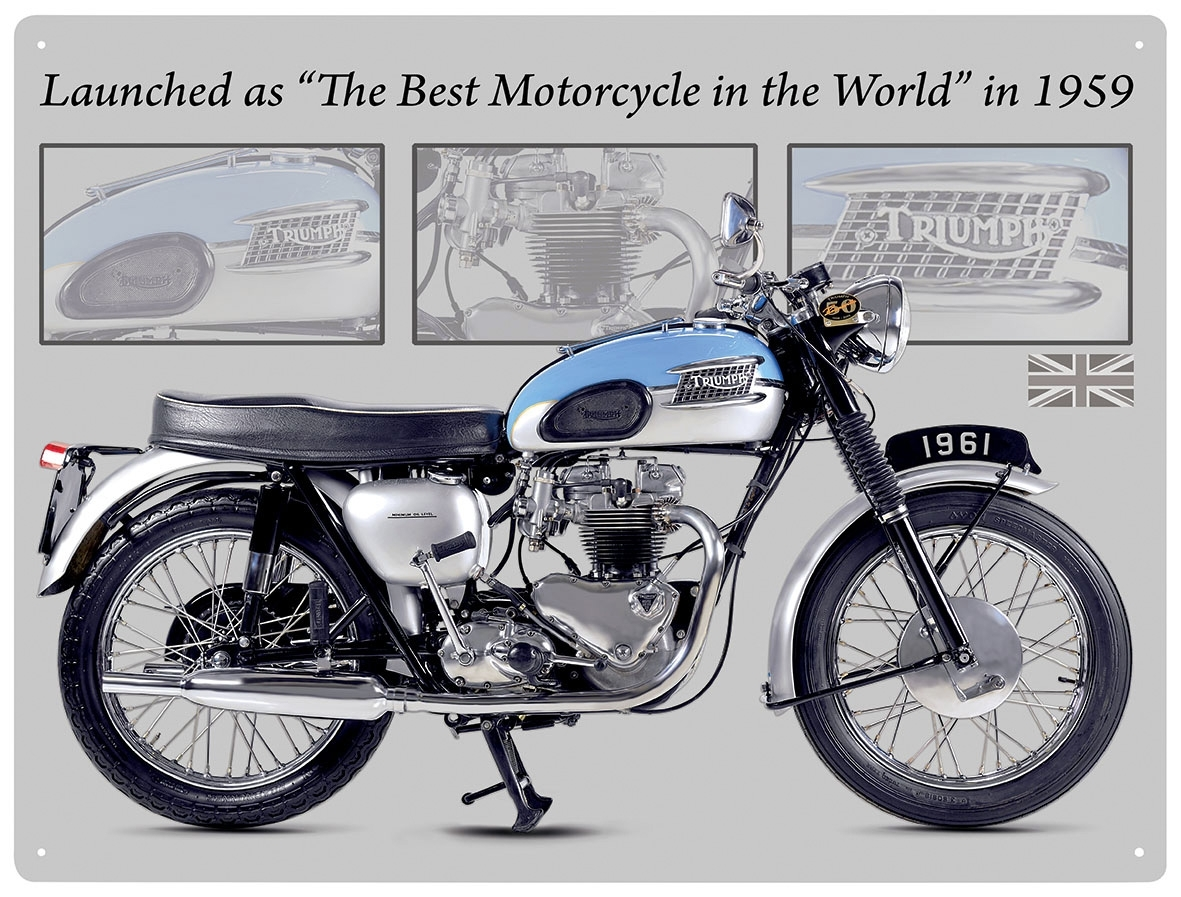 Triumph Bonneville Motorcycle Metal Wall Art Sign 5053386581668 | Ebay Within Most Recently Released Motorcycle Wall Art (Gallery 17 of 20)