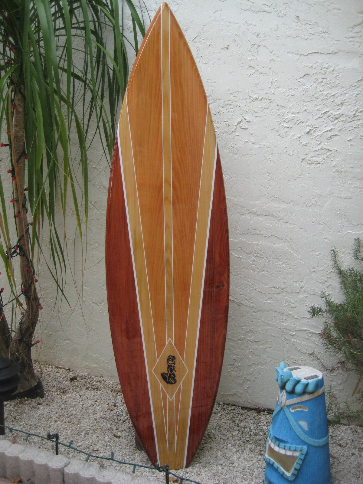 Tropical Decorative Wood Surfboard Wall Art For A Coastal Beach Home With Regard To Latest Surfboard Wall Art (View 13 of 20)