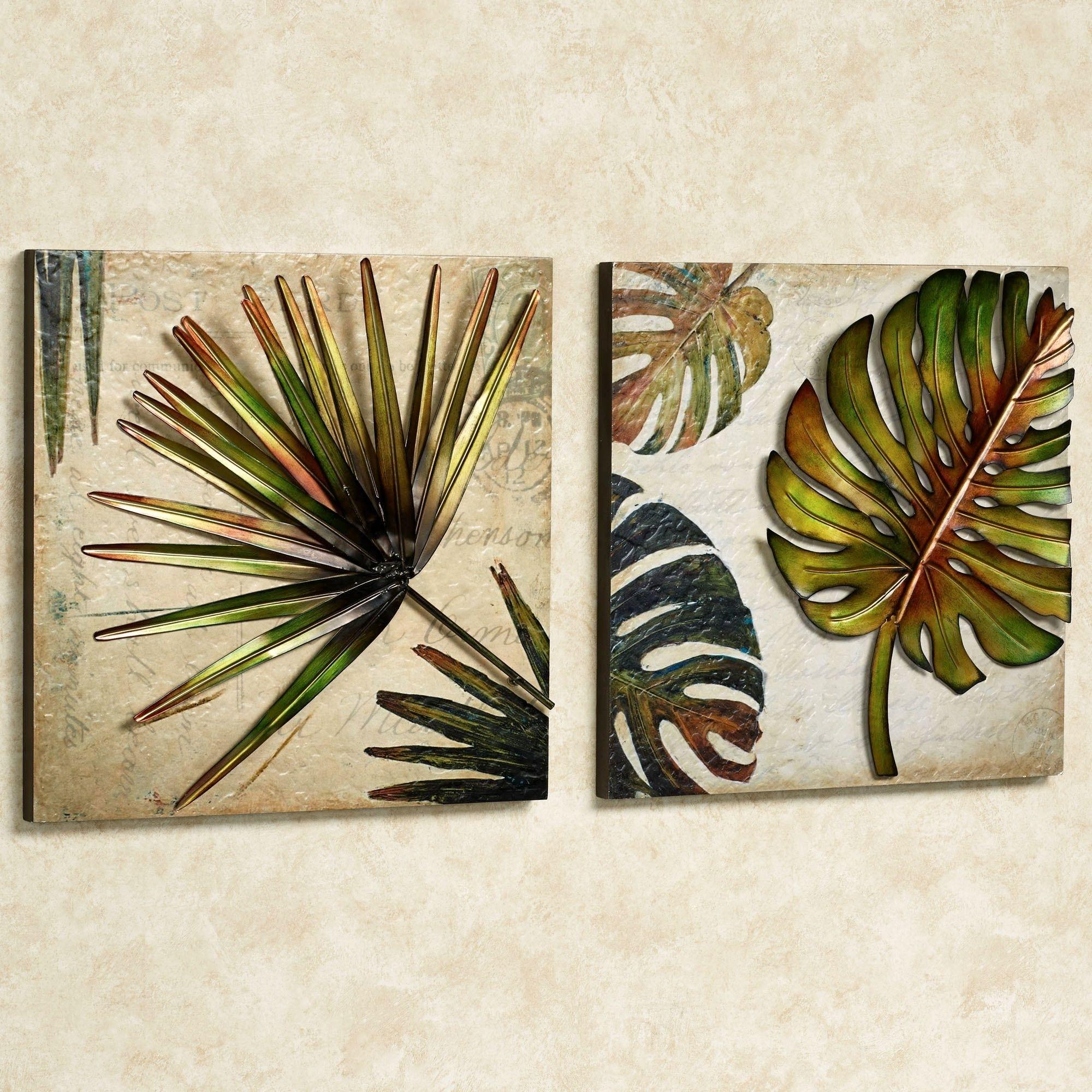 Tropical Impressions Dimensional Wall Art Set | Wall Art Sets, Walls For Most Current Tropical Wall Art (View 1 of 20)