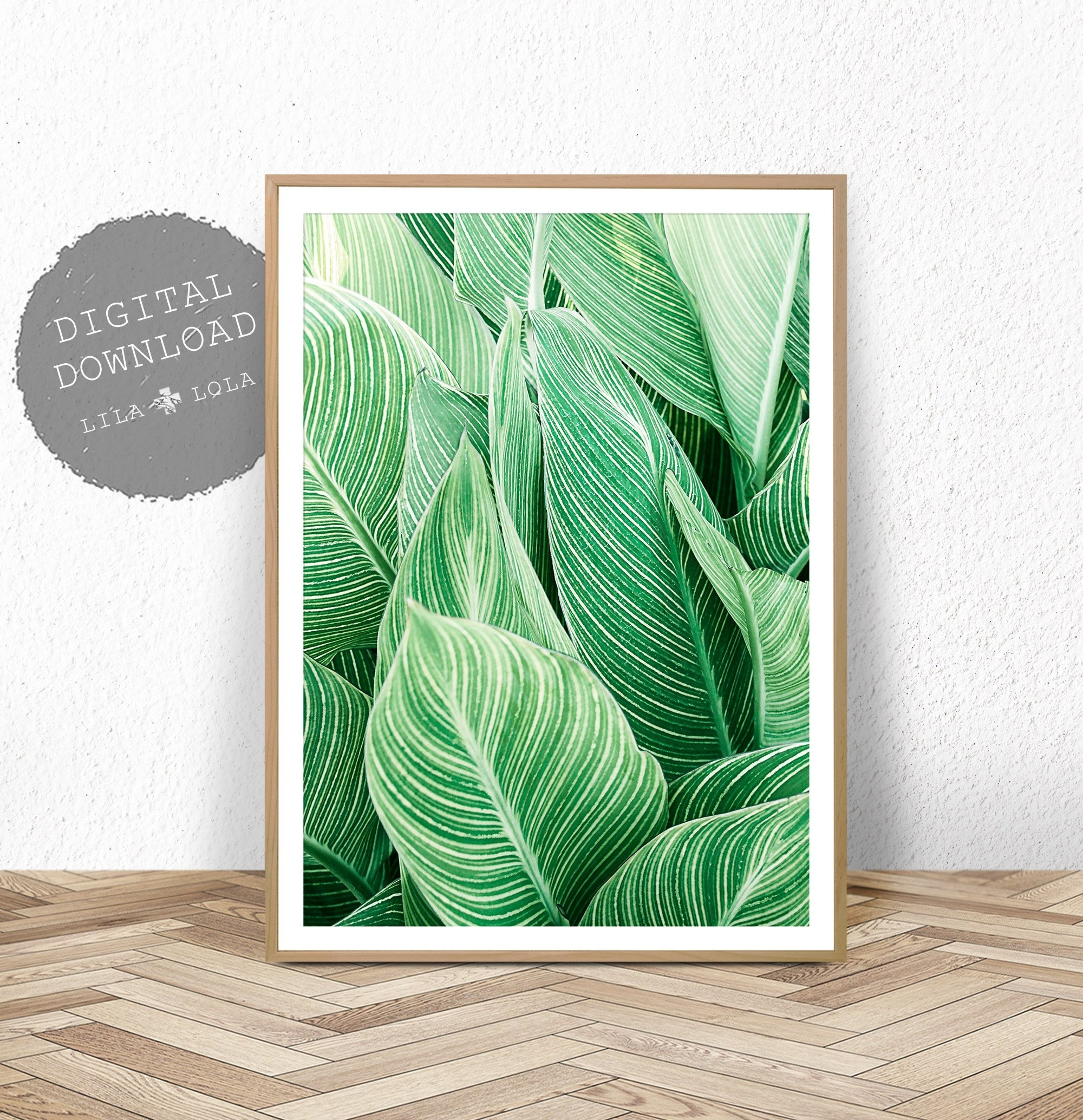 Tropical Plant Wall Art, Leaf Print, Printable Digital Download For Most Current Tropical Wall Art (View 15 of 20)