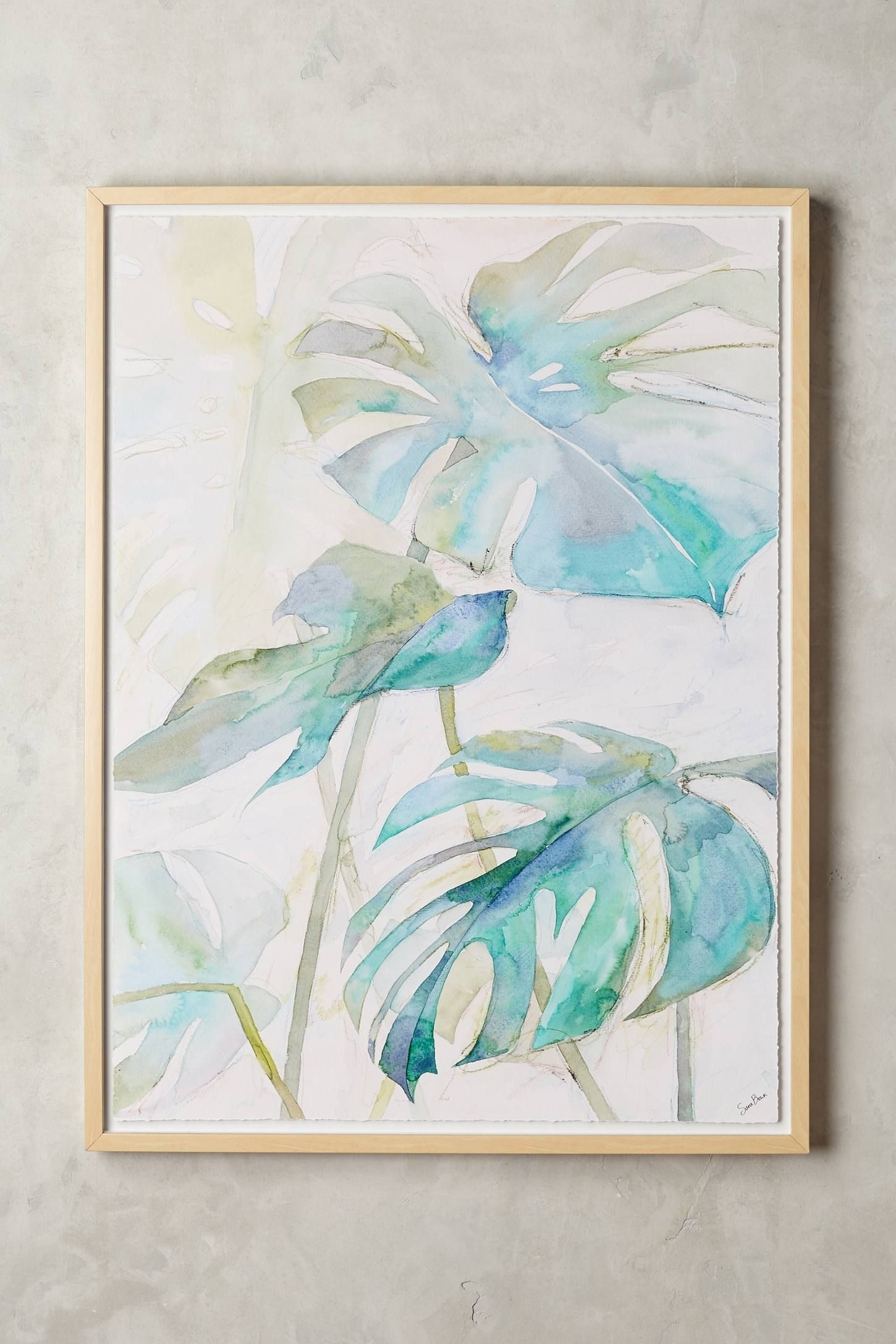 Tropicales Wall Art | Pinterest | Walls, Watercolor And Artwork Pertaining To Most Up To Date Anthropologie Wall Art (Gallery 11 of 20)