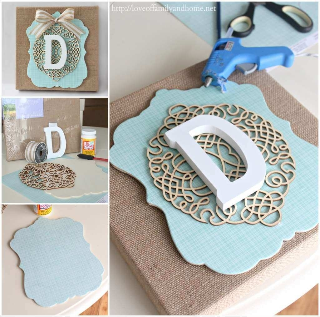 Try This Classy Burlap Monogram Wall Art Wall Monograms ~ Avivabell For Most Up To Date Monogram Wall Art (View 18 of 20)