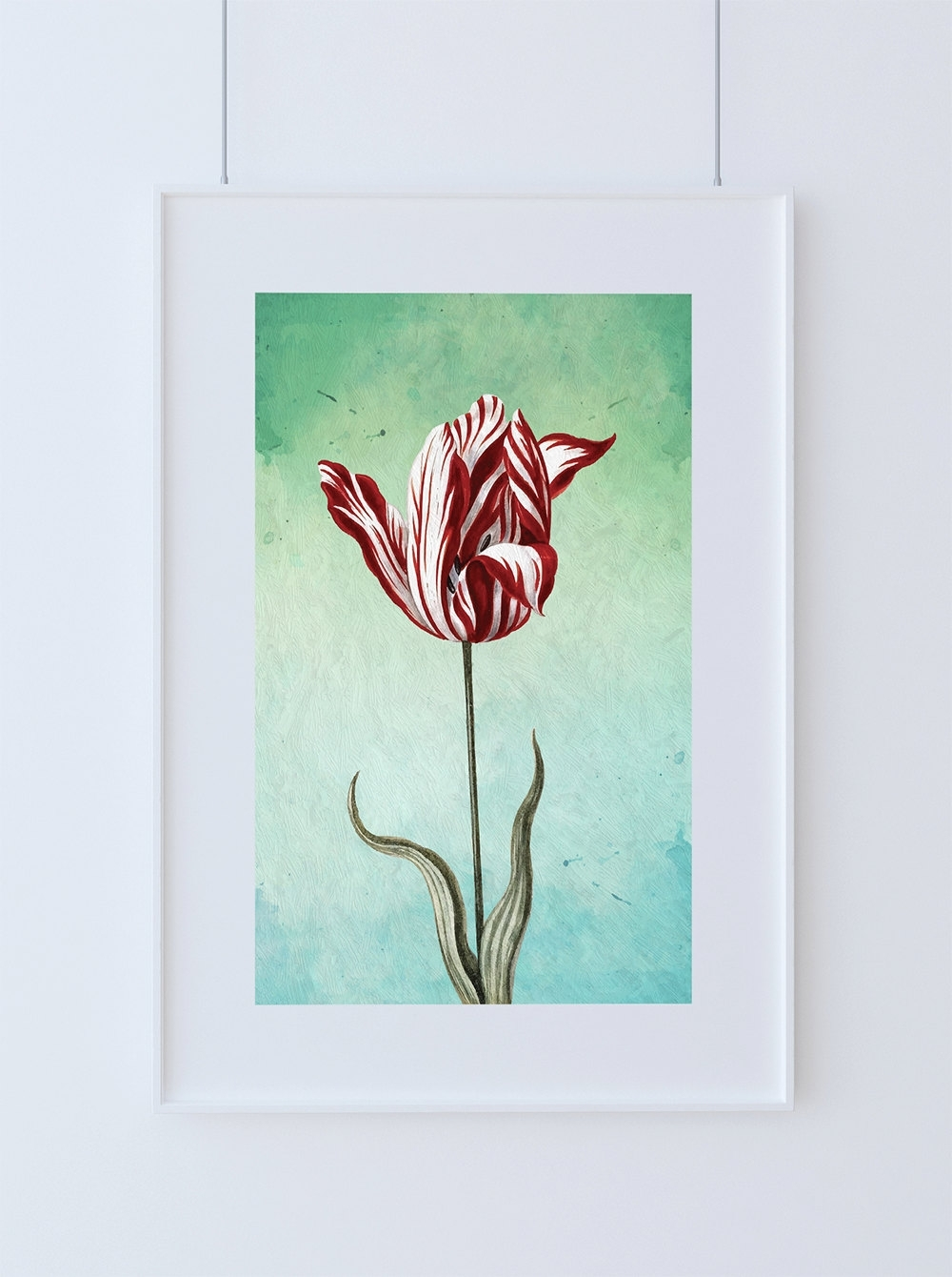 Tulip Print Tulip Art Botanical Print Flower Tulips Decor Floral Throughout Recent Floral Wall Art (View 18 of 20)