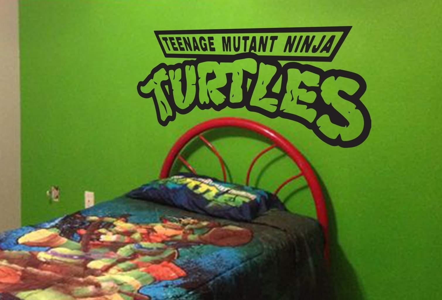 Turtles Are Here To Protect, Ninjaturtles Wall Decal Inside 2018 Ninja Turtle Wall Art (View 19 of 20)