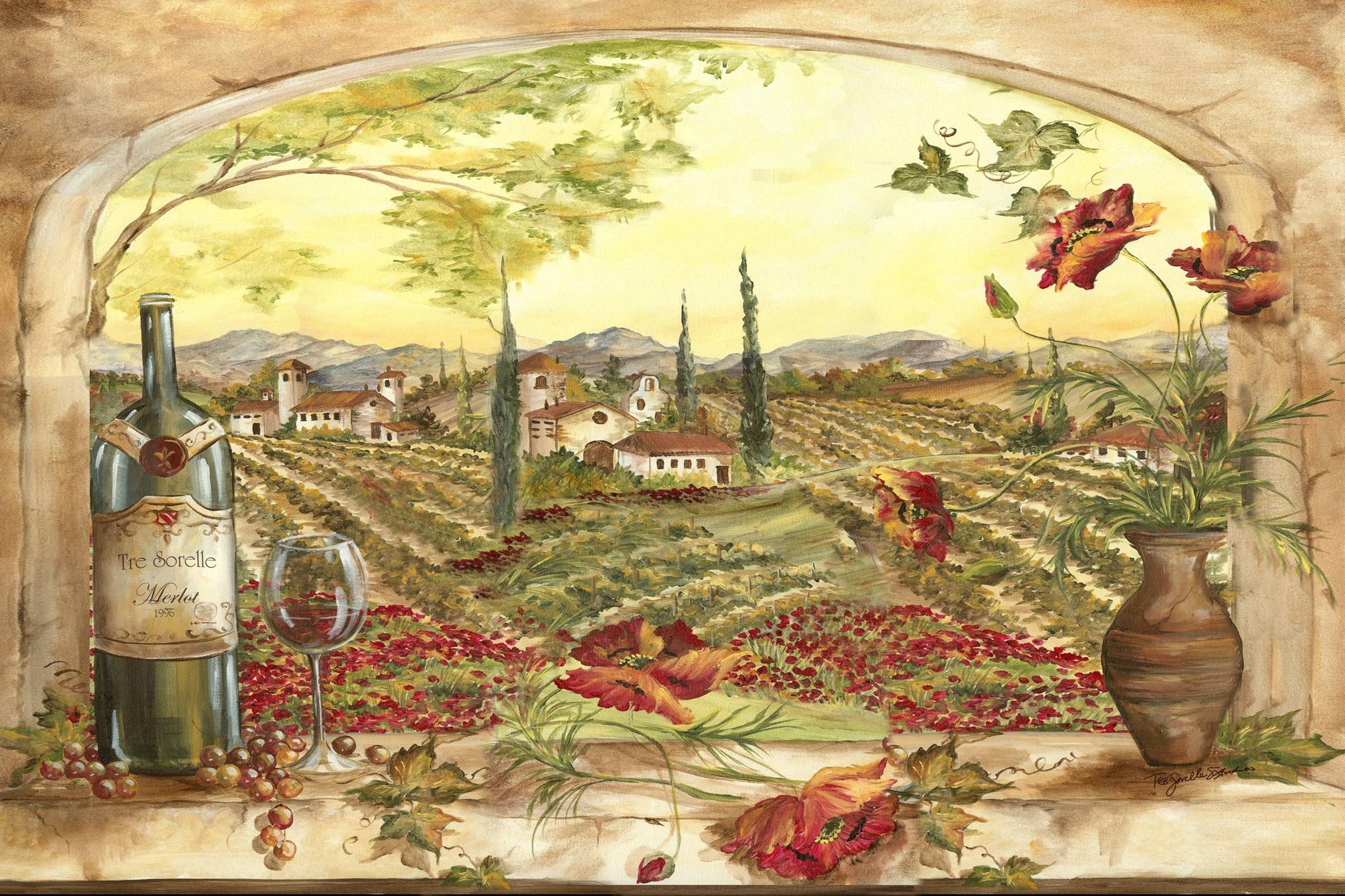 Tuscan Kitchen Wall Art World Of Example, Tuscany Kitchen Wall Art With Regard To Current Tuscan Wall Art (View 7 of 20)