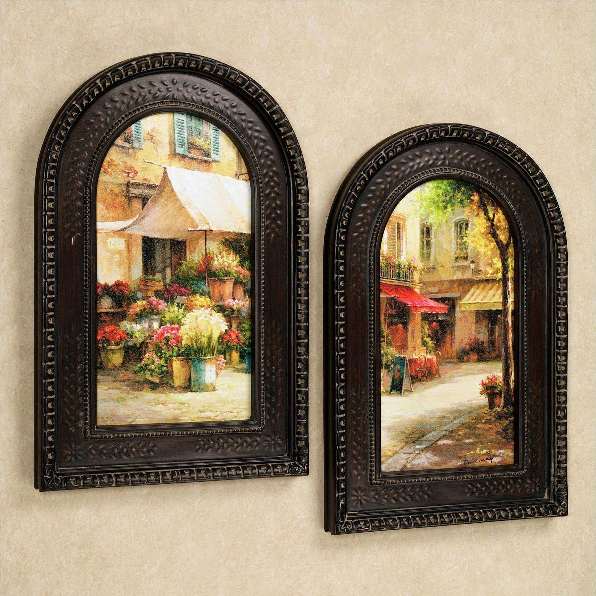Tuscan Wall Art New The Flower Market Arched Framed Wall Art Set Inside 2017 Tuscan Wall Art (View 19 of 20)