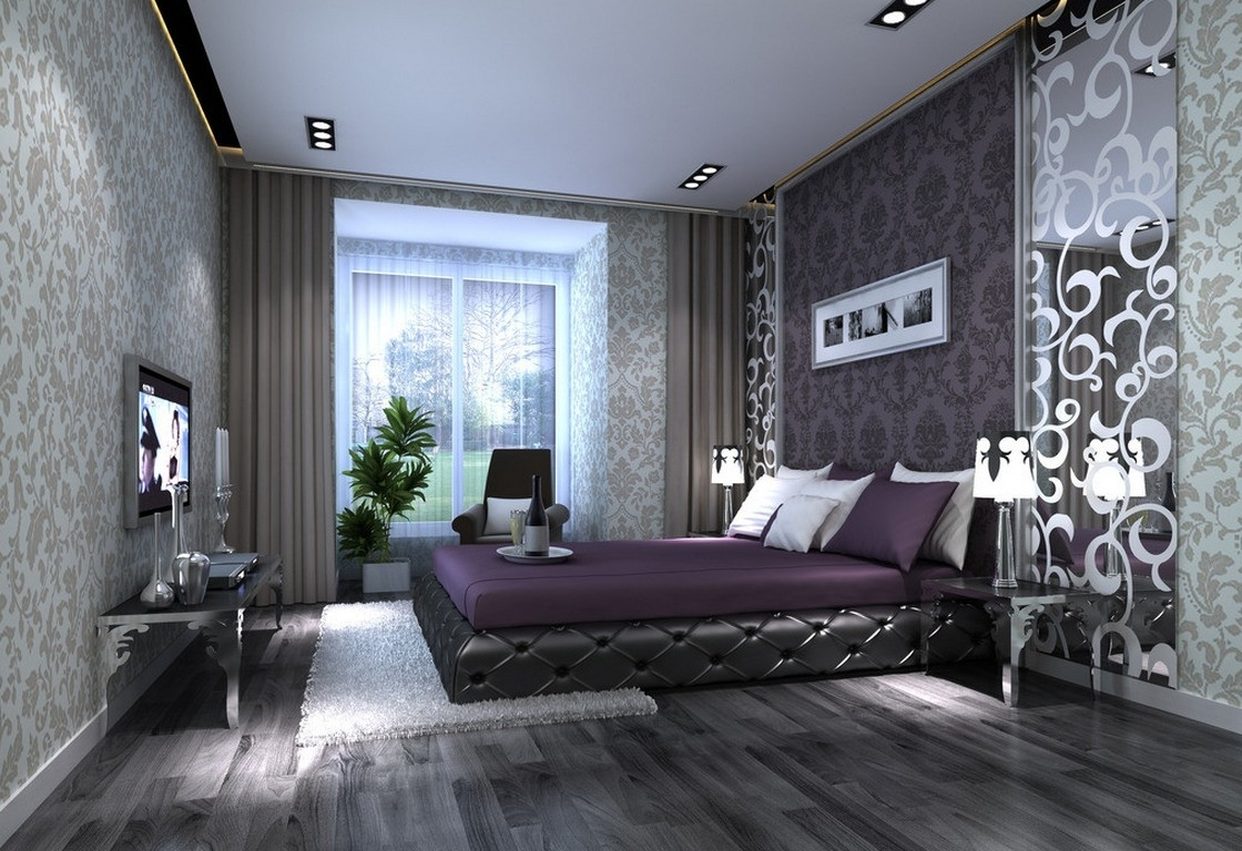 Uncategorized : Bedroom Purple Room Color Scheme And Grey Decorative throughout Most Recently Released Purple And Grey Wall Art